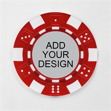 Personalized Red Striped Dice Poker Chip