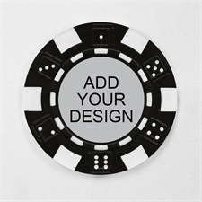 Personalized Black Striped Dice Poker Chip