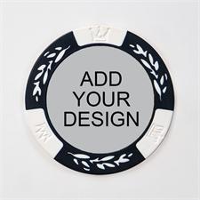 Custom Design Two Tone White Poker Chip