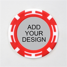 Personalized Two Tone Red Casino Poker Chip