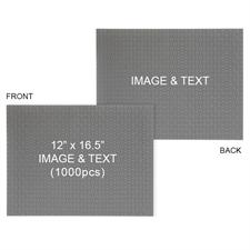 Double-Sided Personalized 12 x16.5 1000pcs Mini Puzzle - Landscape