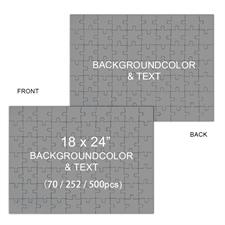 Custom Design 18 x 24 Double-Sided Jigsaw Puzzles, Landscape