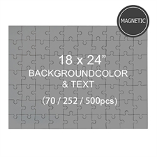 Magnetic 18 x 24 Jigsaw Puzzles, Background Color & Text