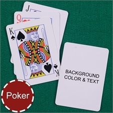 My Own Poker Standard Index Background Color & Text Playing Cards