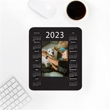 Custom Print Portrait Calendar , Black Mouse Pad