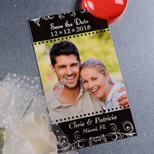 Create Blossom Save The Date Photo 2x3.5 Card Size Magnet