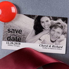Create Picture Us Save The Date Photo 2x3.5 Card Size Magnet