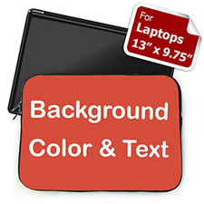 Plain Red Background Custom Text Laptop Sleeve, Medium