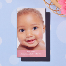 Baby Girl Personalized Photo 2x3.5 Card Size Magnet