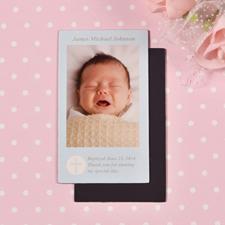 DIY Blue Baptism Photo 2x3.5 Card Size Magnet