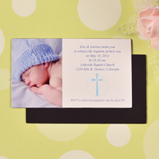 DIY Bless This Child Baptism Photo 2x3.5 Card Size Magnet