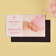 DIY 2x3.5 Card Size Baby's Christening Pink