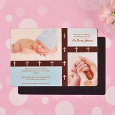 Personalized 4x6 Large Baby Blessing Boy Photo Fridge Magnets