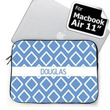 Custom Name Sky Blue Lkat Macbook Air 11 Sleeve