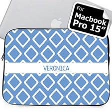 Custom Name Blue Lkat Macbook Pro 15 Sleeve (2015)