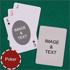Personalized Poker Ovate Custom 2 Side Playing Cards