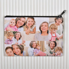 Personalized Seven Collage Photo Cosmetic Bag 6X9 (2 Side Same Image)