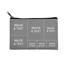 Personalized Seven Collage Photo Cosmetic Bag 6X9 (2 Side Different Image)