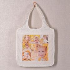 Six Square Collage Folded Shopper Bag
