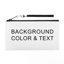Personalized Background Color & Text 5.5X10 (2 Side Different Image) Clutch Bag (5.5X10 Inch)