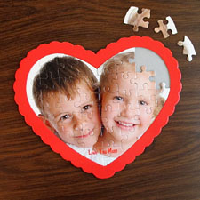 We Heart Grandma Personalized Heart Shape Puzzle