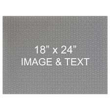 18x24 Custom Photo and Message Puzzle 70 or 252 or 500 Piece