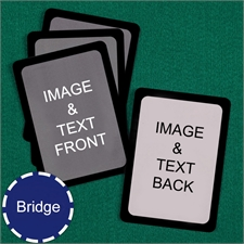 Bridge Size Playing Cards Custom Cards (Blank Cards) Black Border