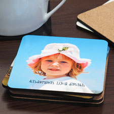Personalized Photo Cork Coaster