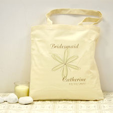 Flower Girl Personalized Cotton Tote Bag