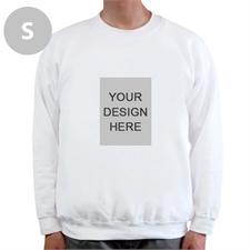 Custom Portrait Image Personalized White Sweatshirt, S