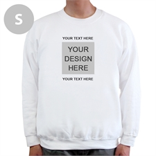 Design Your Own Image & Two Text Lines White S Sweatshirt