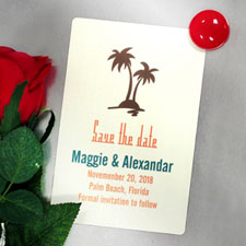 Personalized Palm Tree Save The Date Photo Magnets