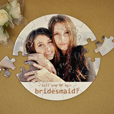 Will You Be My Bridesmaid? Small Round Puzzles