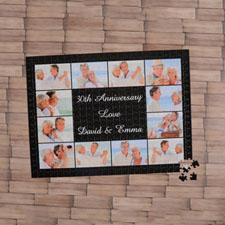 Black Twelve Collage 18 X 24 Photo Puzzle