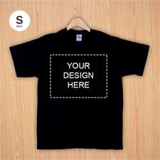 Custom Print Black Landscape Image Adult Small T Shirt