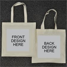 Custom Full Color 2 Side Cotton Tote Bag