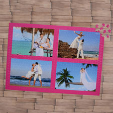 Hot Pink Four Collage 1000 Piece 19.75