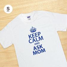 Custom Print Keep Calm And White Adult Small T Shirt
