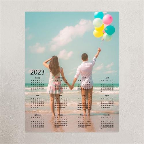 Grey Portrait 18X24 Photo Poster Print Calendar