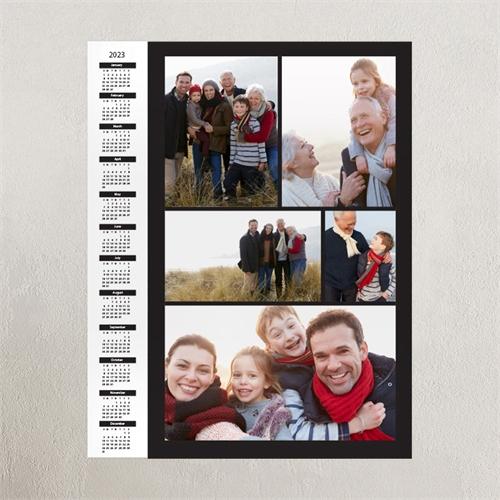 Black Portrait Five Collage 18X24 Poster Print Calendar