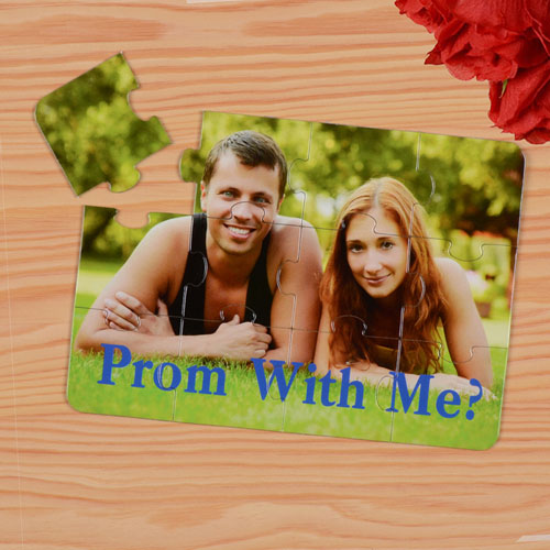 Personalized Prom With Me? Puzzle Invite