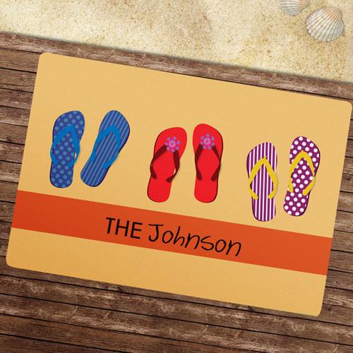 Create Your Own Flip Flops Pattern Door Mat