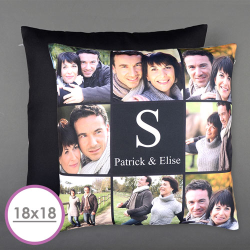 Eight Collage Personalized Photo Large Cushion 18