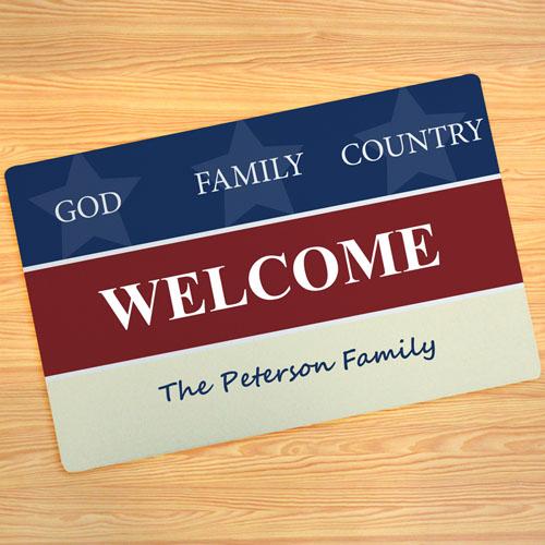 Memorial Day Personalized Doormat