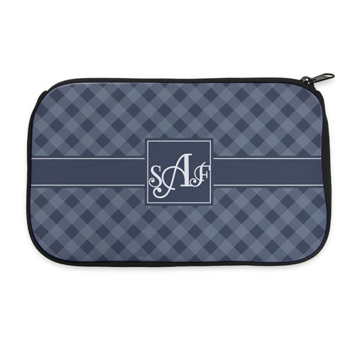 Gingham Personalized Neoprene Cosmetic Bag