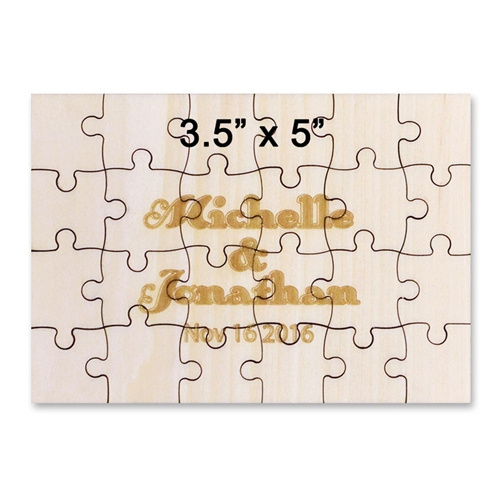 3.5 x 5 Mini Wooden Engraved Jigsaw Puzzle  (24 pieces)