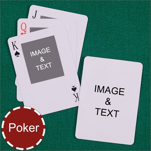 Poker Top Portrait Custom 2 Side Message Playing Cards