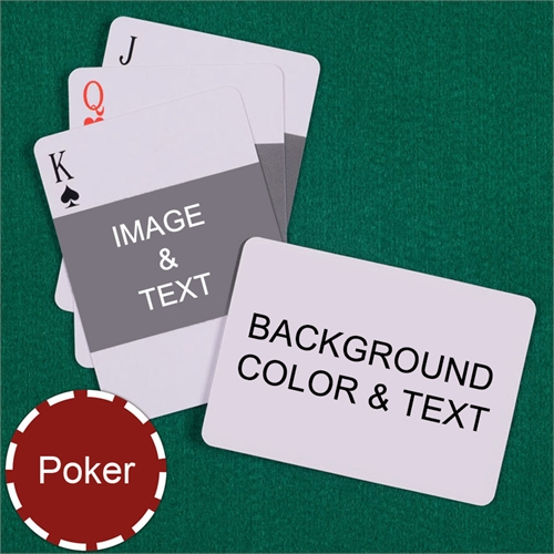 Poker Size Landscape Photo Personalized Message Custom 2 Sides Landscape Back Playing Cards