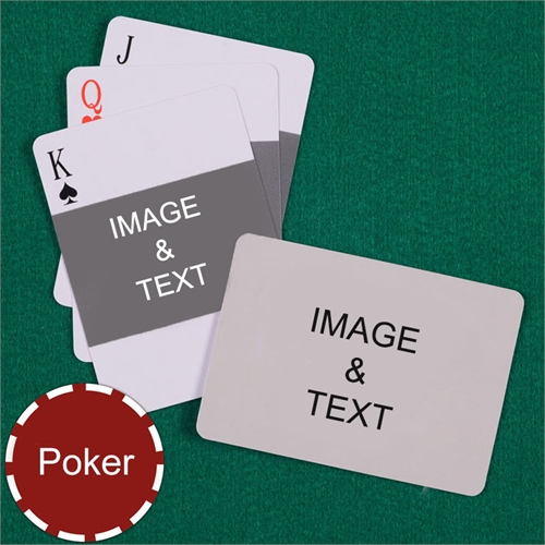 Poker Landscape Photo Custom 2 Side Landscape Playing Cards