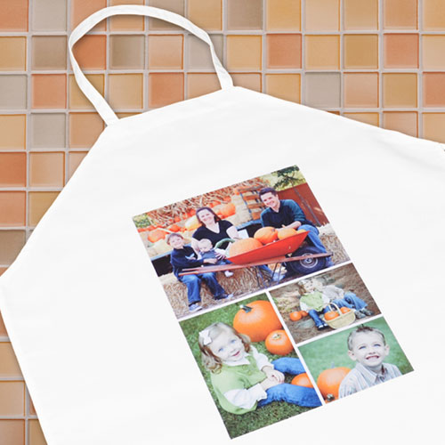 Four Collage Personalized Adult Apron